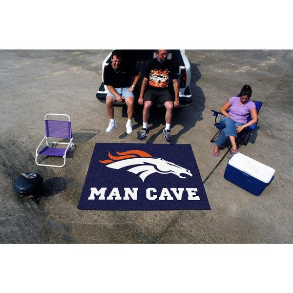 Fanmats Machine-Made Denver Broncos Blue Nylon Man Cave Tailgater Mat (5' x 6')