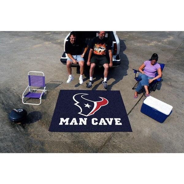 Fanmats Machine-Made Houston Texans Blue Nylon Man Cave Tailgater Mat (5' x 6')