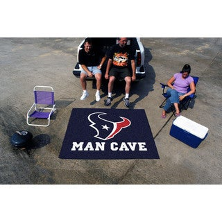 Fanmats Machine-Made Houston Texans Blue Nylon Man Cave Tailgater Mat (5' x 6')