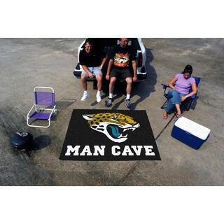 Fanmats Machine-Made Jacksonville Jaguars Black Nylon Man Cave Tailgater Mat (5' x 6')