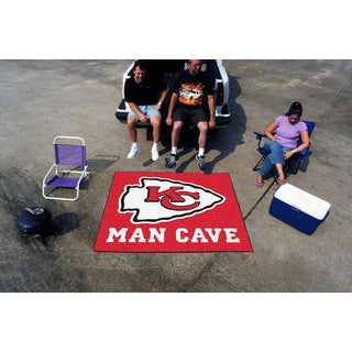 Fanmats Machine-Made Kansas City Chiefs Red Nylon Man Cave Tailgater Mat (5' x 6')
