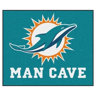 Fanmats Machine-Made Miami Dolphins Turquoise Nylon Man Cave Tailgater Mat (5' x 6')