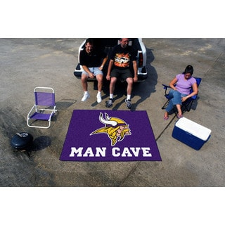 Fanmats Machine-Made Minnesota Vikings Purple Nylon Man Cave Tailgater Mat (5' x 6')