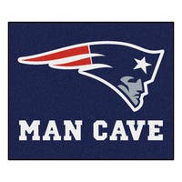 Fanmats Machine-Made New England Patriots Blue Nylon Man Cave Tailgater Mat (5' x 6')