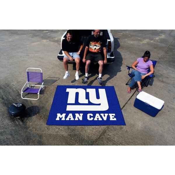 Fanmats Machine-Made New York Giants Blue Nylon Man Cave Tailgater Mat (5' x 6')