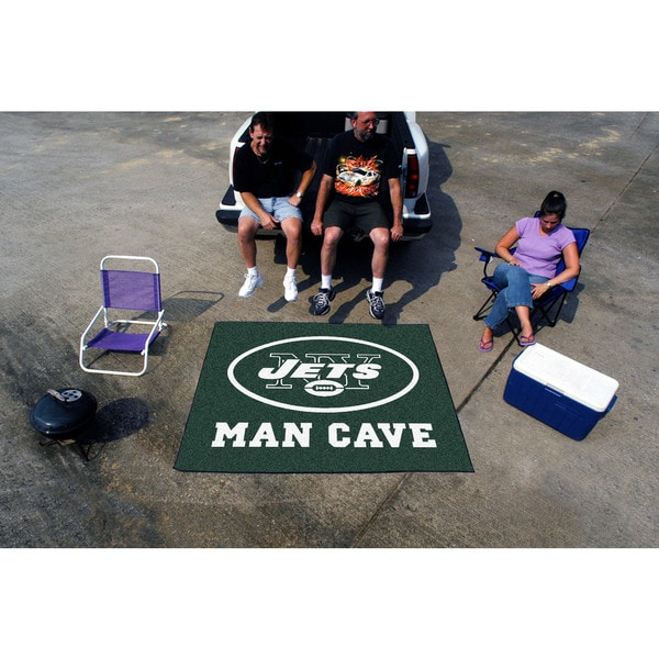Fanmats Machine-Made New York Jets Green Nylon Man Cave Tailgater Mat (5' x 6')