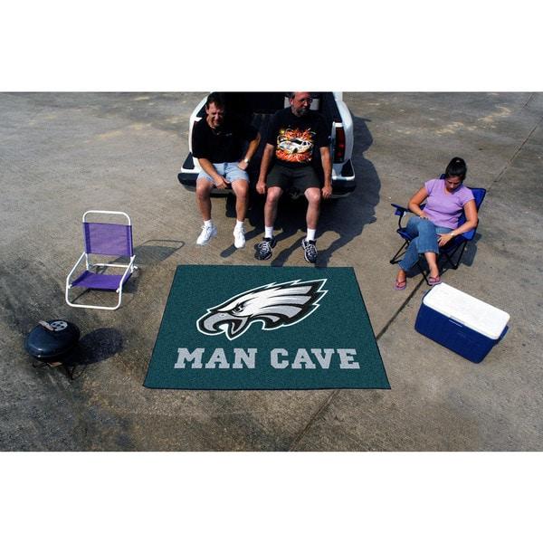 Fanmats Machine-Made Philadelphia Eagles Teal Nylon Man Cave Tailgater Mat (5' x 6')