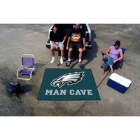Fanmats Machine-Made Philadelphia Eagles Teal Nylon Man Cave Tailgater Mat (5' x 6')