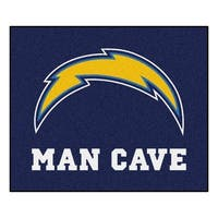 Fanmats Machine-Made San Diego Chargers Blue Nylon Man Cave Tailgater Mat (5' x 6')