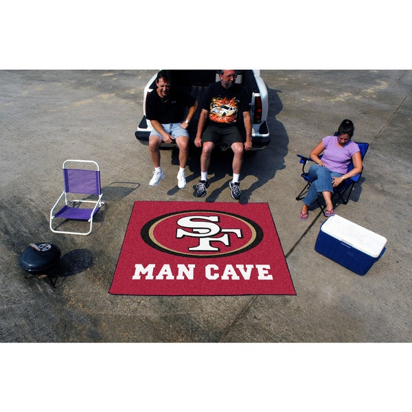Fanmats Machine-Made San Francisco 49ers Red Nylon Man Cave Tailgater Mat (5' x 6')