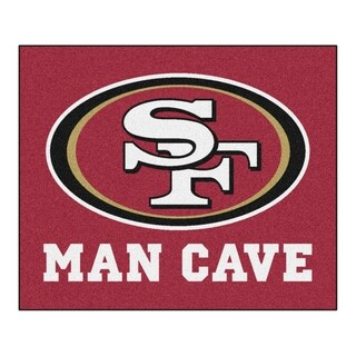Fanmats Machine-Made San Francisco 49ers Red Nylon Man Cave Tailgater Mat (5' x 6')