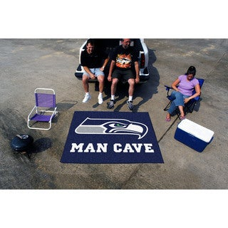 Fanmats Machine-Made Seattle Seahawks Blue Nylon Man Cave Tailgater Mat (5' x 6')
