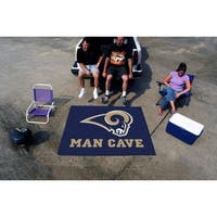 Fanmats Machine-Made Los Angeles Rams Blue Nylon Man Cave Tailgater Mat (5' x 6')