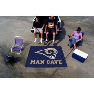 Fanmats Machine-Made Los Angeles Rams Blue Nylon Man Cave Tailgater Mat (5' x 6')