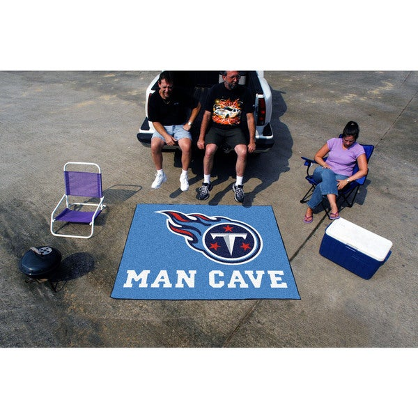 Fanmats Machine-Made Tennessee Titans Blue Nylon Man Cave Tailgater Mat (5' x 6')