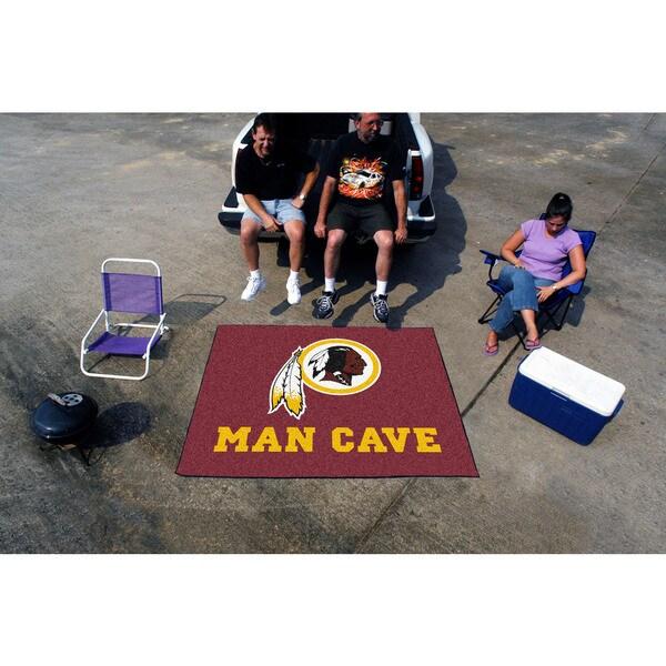 Fanmats Machine-Made Washington Redskins Burgundy Nylon Man Cave Tailgater Mat (5' x 6')