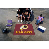 Fanmats Machine-Made Washington Redskins Burgundy Nylon Man Cave Tailgater Mat (5' x 6')