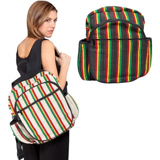 Handmade Natural Rasta Unisex Backpack (Nepal)