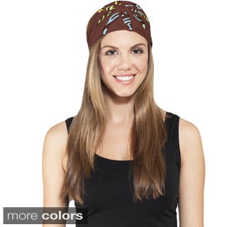 Handmade Women's Cut / Patch Active Headband (Nepal) (Option: Black)