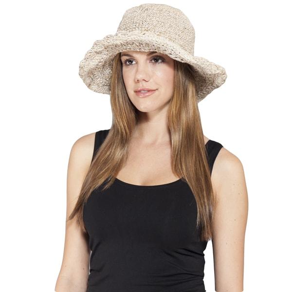 d8272371 Shop Handmade Hemp/ Cotton Mix Wide Brim Sun Hat (Nepal) - Free Shipping On  Orders Over $45 - Overstock - 10094947