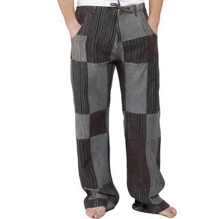 Men's Reclyed Patchwork Cotton Pants (Nepal)