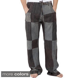 Men's Reclyed Patchwork Cotton Pants (Nepal)