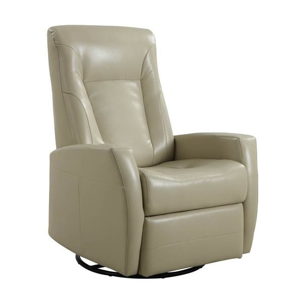 Conrad Swivel Glider Bonded Leather   Free Shipping Today   Overstock.com    17236487