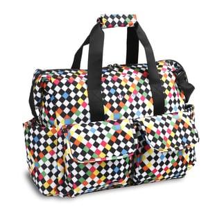 JWorld NewYork Checkers Amber Weekender Duffel Tote Bag