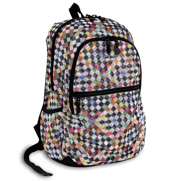JWorld New York Mesh Checkers Backpack
