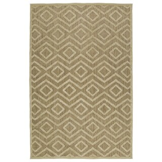 Indoor/Outdoor Luka Khaki Diamond Rug (3'10 x 5'7)
