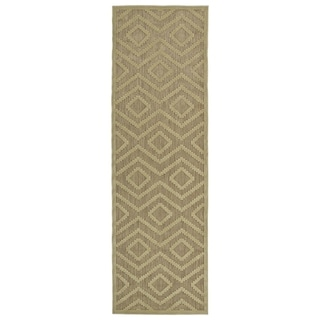 Indoor/Outdoor Luka Khaki Diamond Rug (2'6 x 7'10)