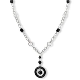 Avanti Sterling Silver Black Onyx Long Y Necklace|https://ak1.ostkcdn.com/images/products/10095071/P17236578.jpg?impolicy=medium