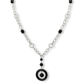 Avanti Sterling Silver Black Onyx Long Y Necklace