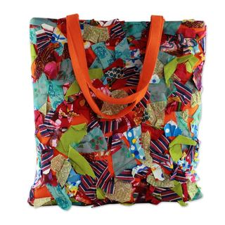 Handcrafted Cotton 'Beautiful Chaos' Shoulder Bag (India)