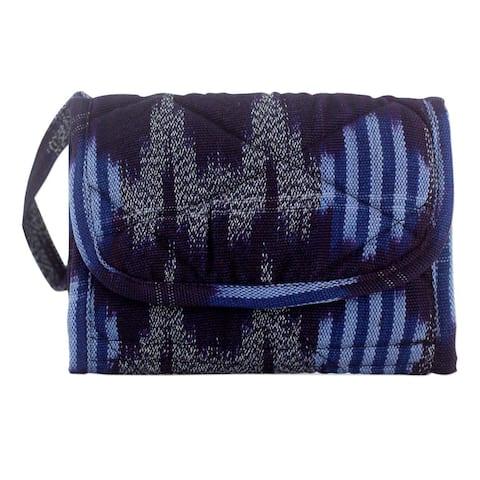 Handmade Midnight Maya Wristlet Bag (Guatemala)