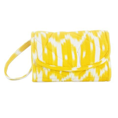 Handmade Cotton 'Maya Sunlight' Wristlet Bag (Guatemala)