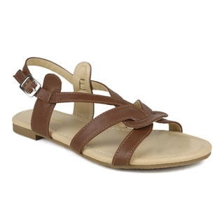 Mark and Maddux Women's Bishop-02 Looped Criss-cross Strap Sandal
