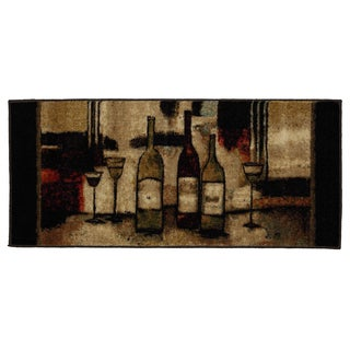 Mohawk Home New Wave Wine And Glasses Brown (1'8 x 3'9)