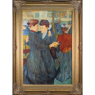 Henri de Toulouse-Lautrec At the Moulin Rouge Two Women Waltzing Hand Painted Framed Canvas Art