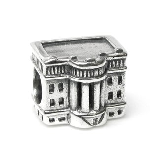 Queenberry Sterling Silver America Usa President White House Patriotic Landmark Travel European Bead
