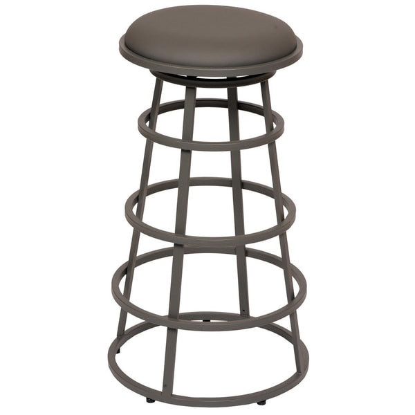 Armen Living Ringo 26 Inch Backless Grey Metal Barstool
