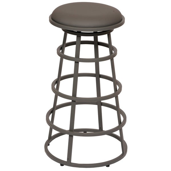 Armen Living Ringo 26-inch Backless Grey Metal Barstool
