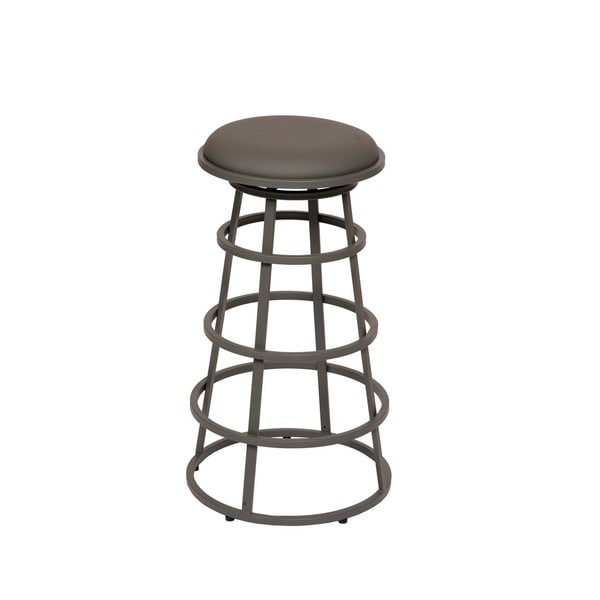 Shop Ringo 30 Inch Backless Grey Metal Barstool On Sale
