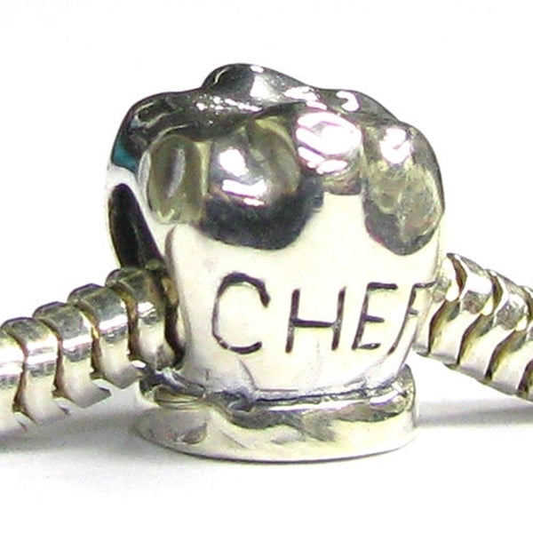 Sterling Silver Chef Kitchen Aid Cooking Cook Bead for European Charm Bracelet