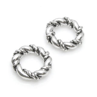 Queenberry Set Of 4 Pieces Sterling Silver Thick Twisted Spacer Ring Space European Bead Charm