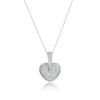 SummerRose, 14kt white gold Diamond heart pendant, 1.50cttw (H-I, SI1-SI2)