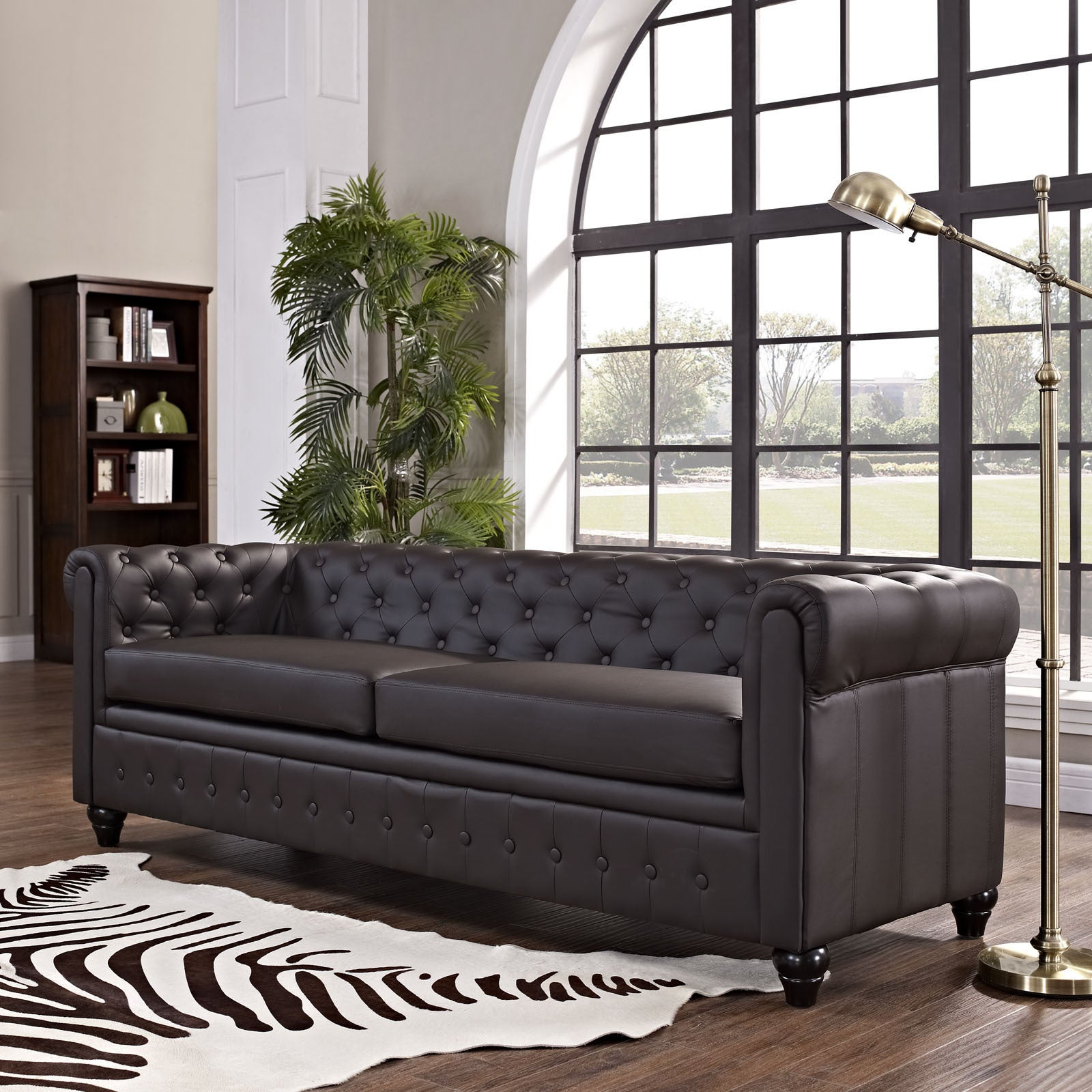 Modway Earl Vinyl Sofa Free Shipping Today Overstock