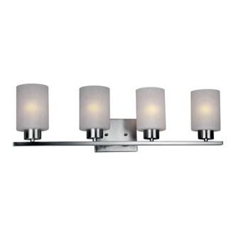 HomeSelects 7535 Dakota 4-light Brushed Nickel and Opal Glass Vanity Light