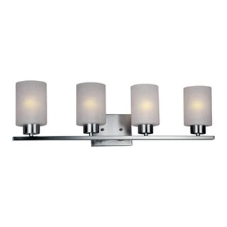 HomeSelects 7535 Dakota 4-light Brushed Nickel and Opal Glass Vanity Light