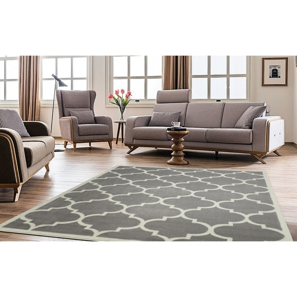 Shop ottomanson paterson collection contemporary moroccan - Living room throw rugs ...
